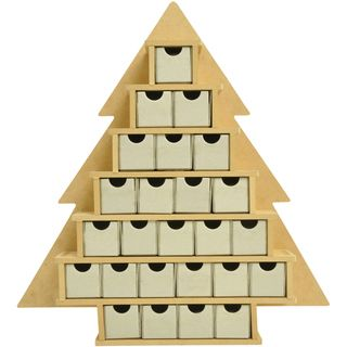 Beyond The Page MDF Small Tree With Drawers Advent Calendar 15.25X16