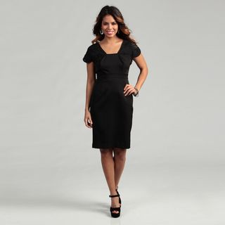 Adrianna Papell Womens Novelty Sleeve Fitted Dress FINAL SALE