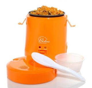 Wolfgang Puck Orange 1.5 cup Portable Rice Cooker with WP Recipes