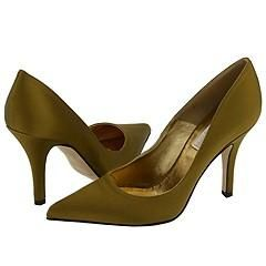 Michael Kors Azurette Olive Satin Pumps/Heels