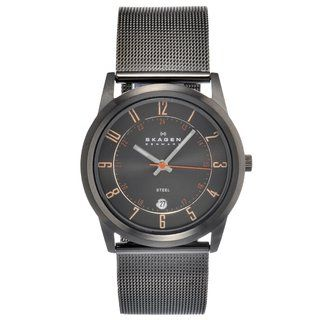 Skagen Mens Stainless Steel Mesh Strap Watch