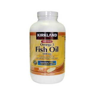 Kirkland Signature Natural Omega 3 Fatty Acid 400 ct Fish Oil