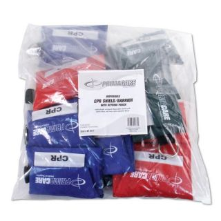 Primacare CPR Shield/ Barrier Key Ring Pouches (Pack of 12