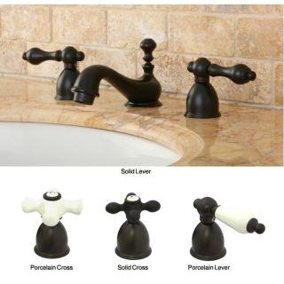 Mini widespread Oil Rubbed Bronze Bathroom Faucet