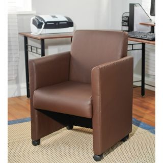 Rolling Chocolate Vinyl Office Chair