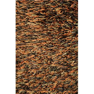 Hand tufted Tilton Brown/ Burnt Orange Shag Rug (5 x 76)