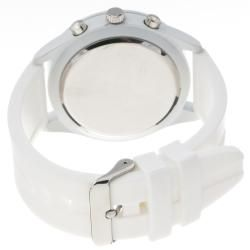 Unlisted by Kenneth Cole Mens White Rubber Strap Analog Watch