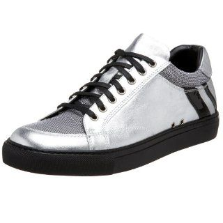Ralph Lauren Mens Siena Sneaker,Silver/Black,7 M US Shoes