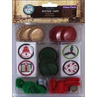Vintage Collection Funky Christmas Value Party Pack Bottle Caps
