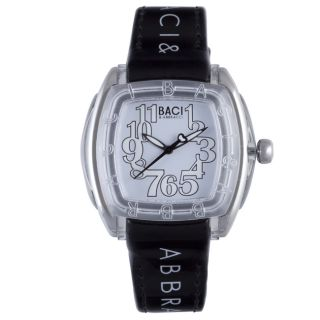 Baci Abbracci Womens Black Patent Leather Watch