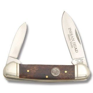 Indian Head Knives 27 Canoe Pocket Knife with Brown Smooth