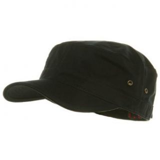 Trendy Military Fitted Cap  Black W32S36D Clothing