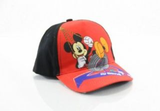 Disney Mickey Mouse Boys Red Baseball Cap Hat Clothing