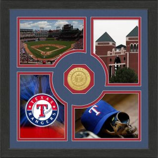 Highland Mint Texas Rangers Fan Memories Minted Coin Photo Frame