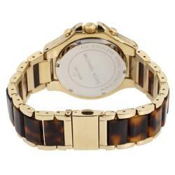 Michael Kors Womens Chronograph Tortoise Brown Dial Watch