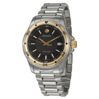Movado Mens Series 800 Gold plated Stainless Steel Watch