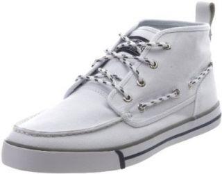 Nautica Mens Del Mar High Canvas Ankle Sneaker,White,7.5 M US Shoes