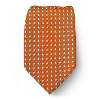 XL 1509   Orange   Teal   Extra Long Silk Necktie