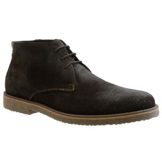 GBX Mens Dark Brown Suede Ankle Boots