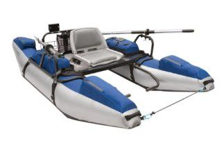 Rogue Fly Fishing Pontoon Boat (Silver/Blue) Sports