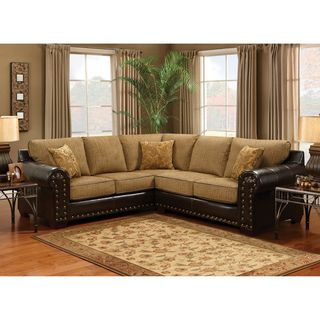 Enitial Lab Charlotte Wheat Finish Sectional