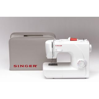 Singer 1507 White Eight stitch Mechanical Sewing Machine with Cover