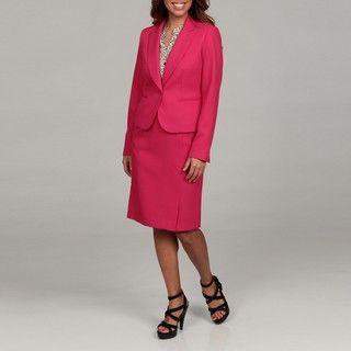 Nine West Womens 2 piece Tweed Cuff Skirt Suit