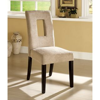 Sofella Beige Contemporary Open Cut Dining Chairs (Set of 2
