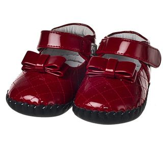 Little Blue Lamb Infant/ Toddler Hand stitched Red Patent Leather