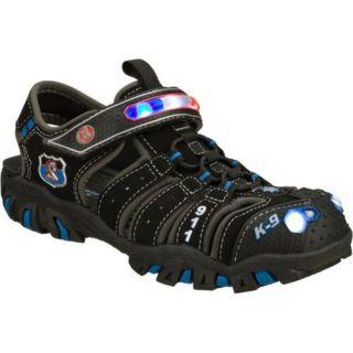 Boys Skechers Hot Lights Ravage Police Sandal II Black/Blue