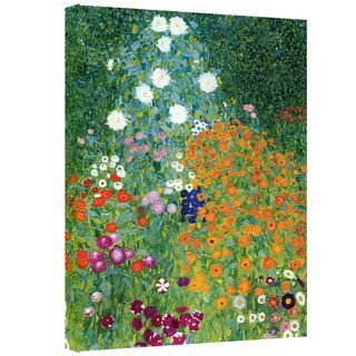 Gustav Klimt Farm Garden Gallery wrapped Canvas Art
