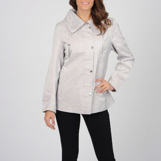 Utex Womens Oyster Water repelling Ruched Collar Anorak