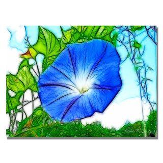 Kathie McCurdy Heavenly Blue Morning Glory Canvas Art