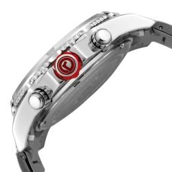 Red Line Mens Racer Silver Dial Stainless Steel Chronograph Watch