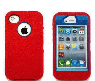 Otterbox Defender for Iphone 4/4s RED with Blue (No