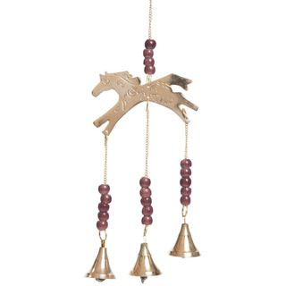 Brass Bell Horse Wind Chime (India)