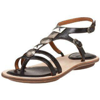 Gentle Souls Urbanized Gladiator Thong,Black,5 M US Shoes