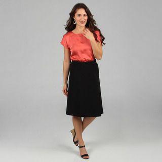 Celebrating Grace Womens Black A line Skirt