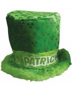 New St. Patricks Day Irish Furry Pimp Shamrock Top Hat