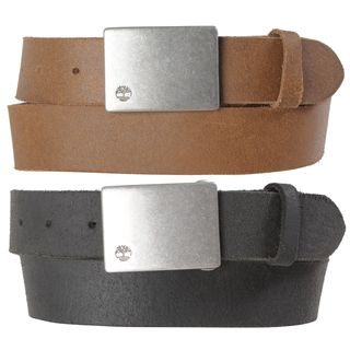 Timberland Mens Casual Distressed Genuine Leather Belt