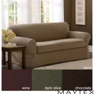 Maytex Stretch 2 piece Pixel Sofa Slipcover