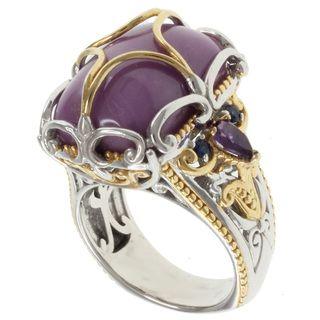 Michael Valitutti Two tone Silver Phosphosiderite Ring