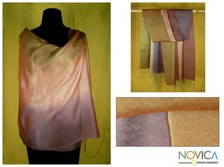 Silk and Wool Natural Radiance Shawl (India)