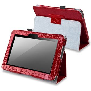 BasAcc Red Leather Case with Stand for  Kindle Fire 7 inch