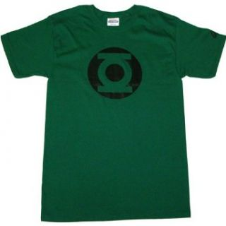 Green Lantern Metalix Logo Mens T Shirt Clothing
