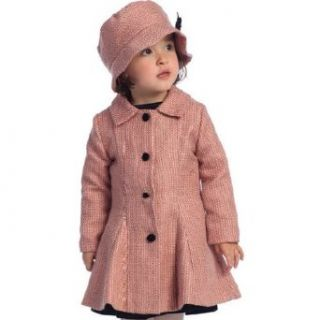 Angels Garment Toddler Little Girls Pink Vintage Coat Hat