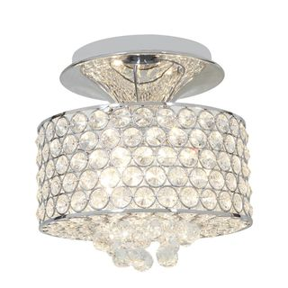 Access Kristal 3 light Chrome Semi flush Drum Fixture