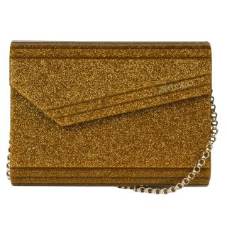 Jimmy Choo Candy Gold Glitter Clutch