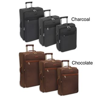 London Fog Oxford Classic 3 piece Expandable Suiter Upright Luggage
