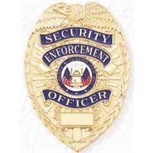 Blackinton Security Enforcement Officer Gold Shield Badge